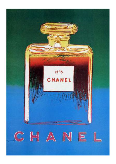 Andy Warhol Chanel No. 5 Poster on Chairish.com
