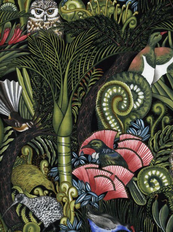 quilts, NZ bush, ponga fronds, kiwi, tui, NZ birds, nikau palm, pohutukawa, owl
