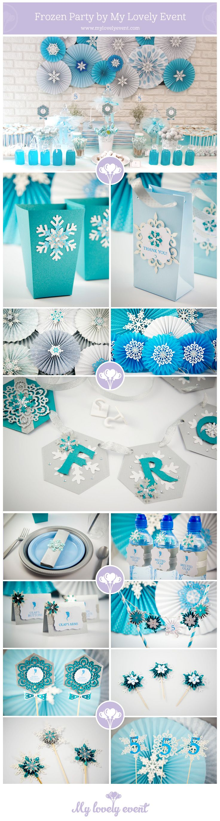 Decorations for the frozen party by My Lovely Event
