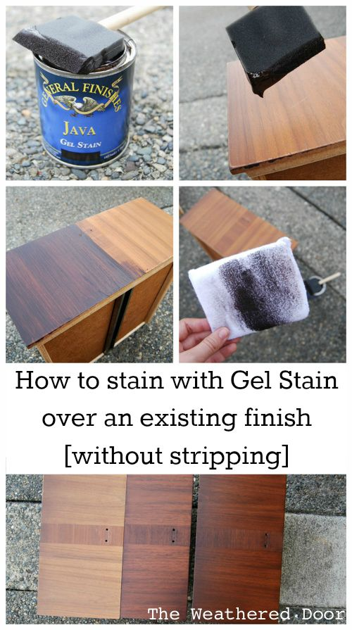 How to Gel Stain over an existing finish without stripping Collage WD-b-2