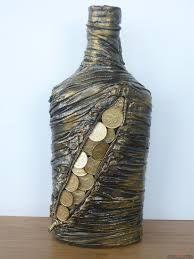 Resultado de imagem para декорированные бутылки