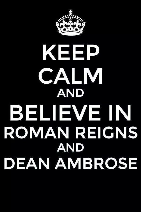 Ok these guys are the best ever Roman reigns and Dean Ambrose are brother's forever they are always there for each other no matter what believe that