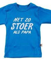 In een kraammand mag een cadeautje voor de vader natuurlijk niet ontbreken. Super leuk is dit shirt van Wooden Buttons  http://www.blauwlifestyle.nl/nl/babykleding.html?merken=334