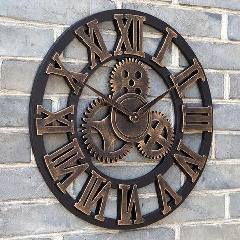Oversized Large Decorative Vintage Retro Art Luxury Gears Wall Clock Creative Fashion Wall Clock Cheap Big Wall Clocks For Sale Cheap Clock From Aozhouqie, $52.27| Dhgate.Com