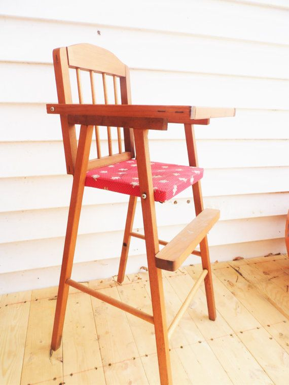 Wood Baby Doll Furniture #24: Wooden Doll High Chair Doll High Chair Baby By OldSteamerTrunkJunk