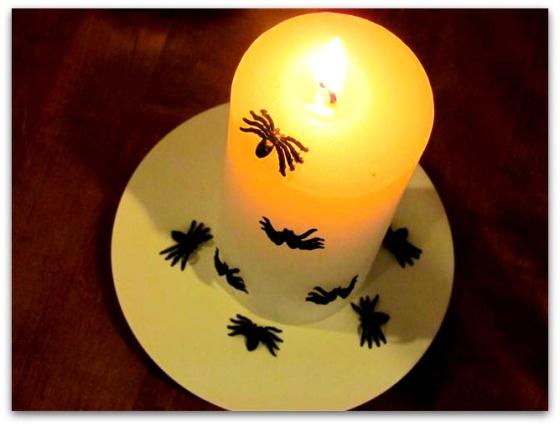 Hämähäkki-kynttilät   Juhlamielellä