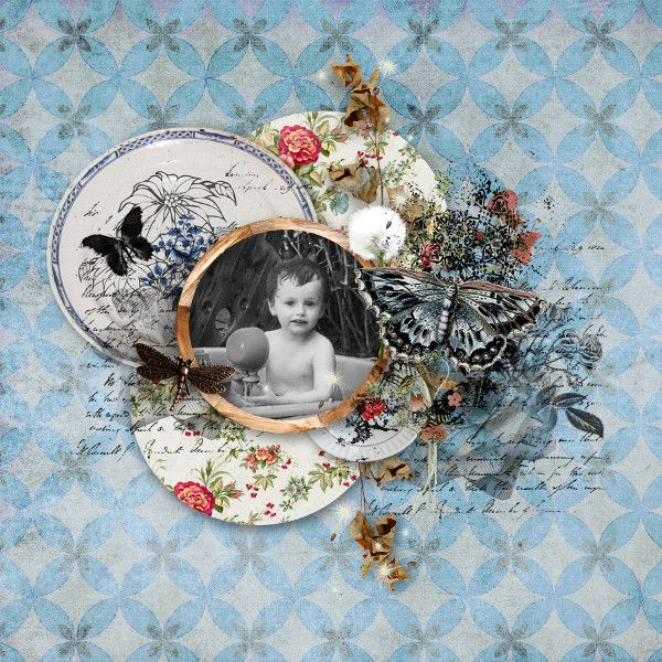Sweet-Chick Scrap and Comy page with the mini kit Country house by kitty scrap