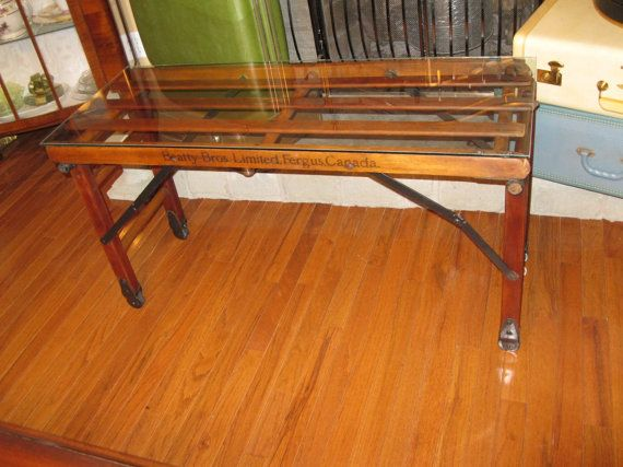 Beatty Bros Fergus Ontario Wash Stand by VictorianRehabDesign, $295.00  upcycle coffee table