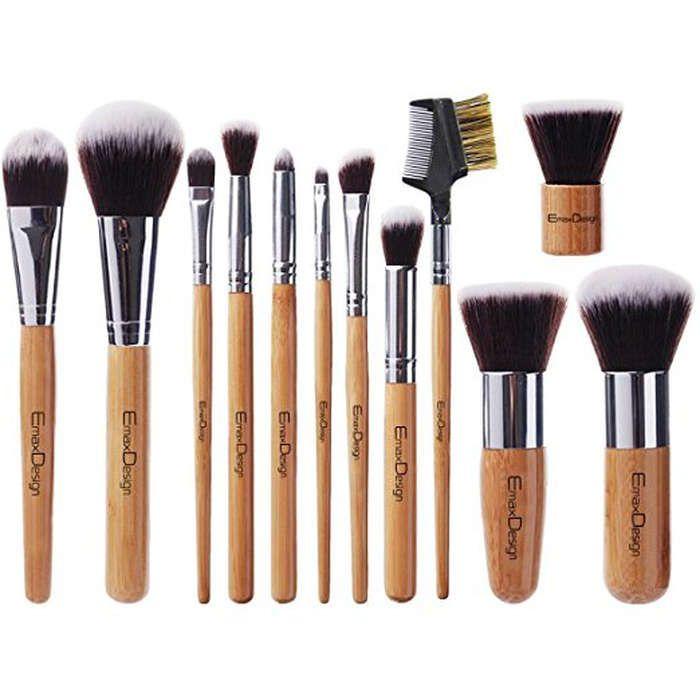 10 Best Makeup Brushes On Amazon Bamboo Makeup Brushes Makeup Brush Set Professional Makeup Brush Set