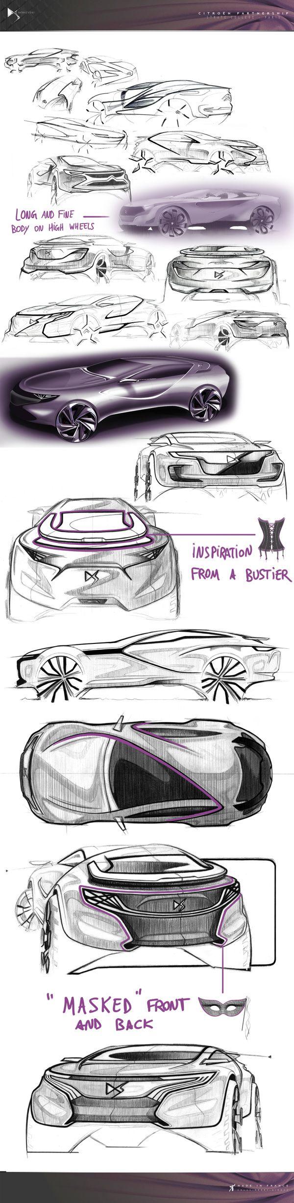 Citroën DS Episode - Exterior/Interior Design by Christopher Giroux, via Behance