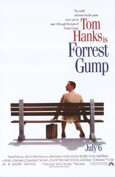 67. Forrest Gump (1994) - The 75 Most Iconic Movie Posters of All Time | Complex