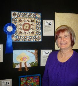 """""""Autumn Breeze"""" by Shelley Kelly. Winner of First Prize for 'Miniature Quilts' at the 2013 Victorian Quilters Showcase - Melbourne, Australia."""