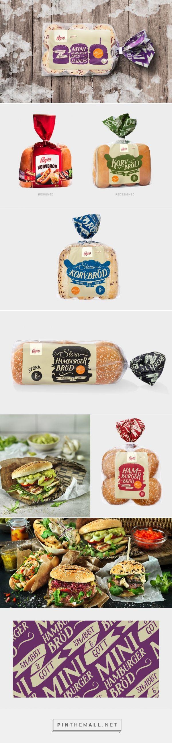 Pågen Fastfood bread packaging redesigned by DDB Göteborg - http://www.packagingoftheworld.com/2015/08/pagen-fastfood.html