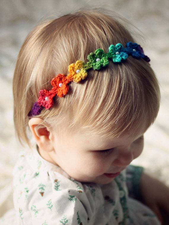 Daisy Chain Headband Crochet Pattern pdf by DaisyChainPatterns