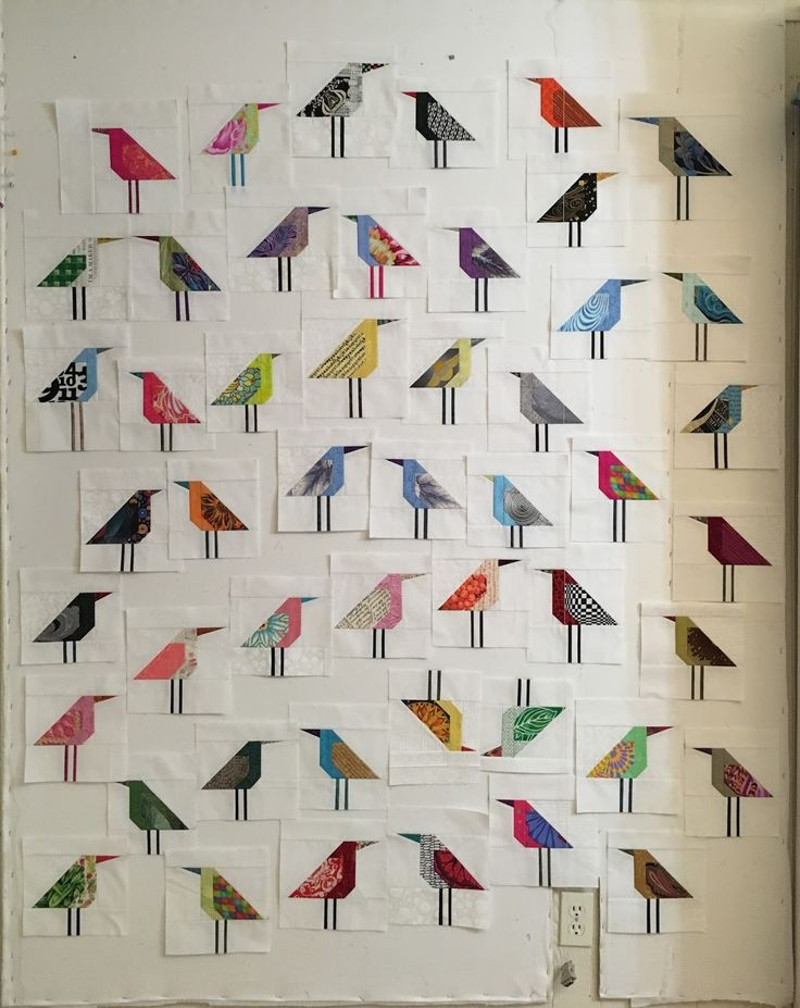 I got home from work and didn't like the way the layout looked. The birds were too lined up into what looked like rows, so I moved a lot o...