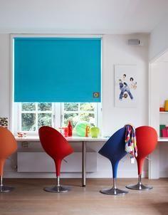 Bece #raamdecoratie #rolgordijn #blauw #blue
