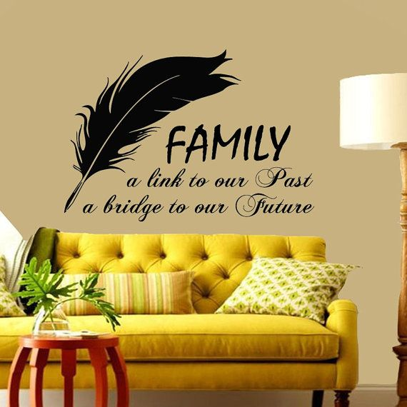 Wall Decals Vinyl Decal Sticker Family Quote Link By Harmony4Life