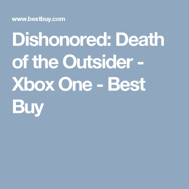 Dishonored: Death of the Outsider - Xbox One - Best Buy