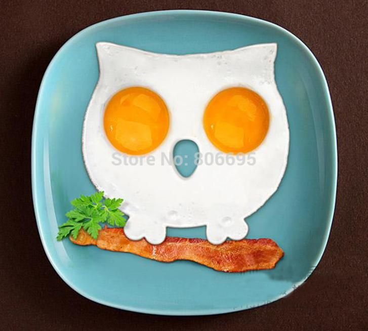 Breakfast Side Up Owl Fried Egg Mold Egg Ring Shaper Silicone Funny Cooking Tool ZH-009 #Affiliate