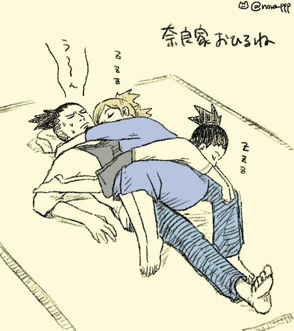 "Shikamaru/Temari/Shikadai Lol! Shikamaru's like, ""Are you kidding me? What a drag."""