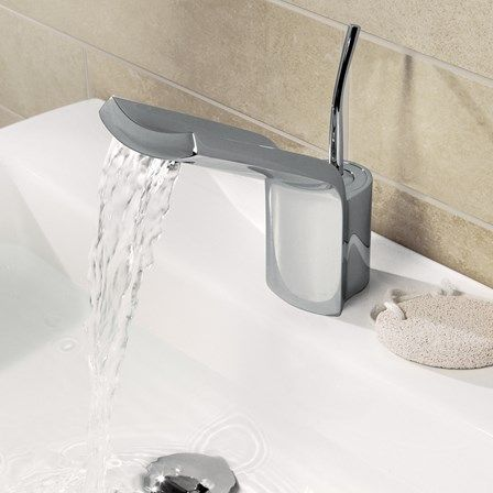 This stunning waterfall bathroom tap is a stunning pick for people looking to upgrade their bathroom!
