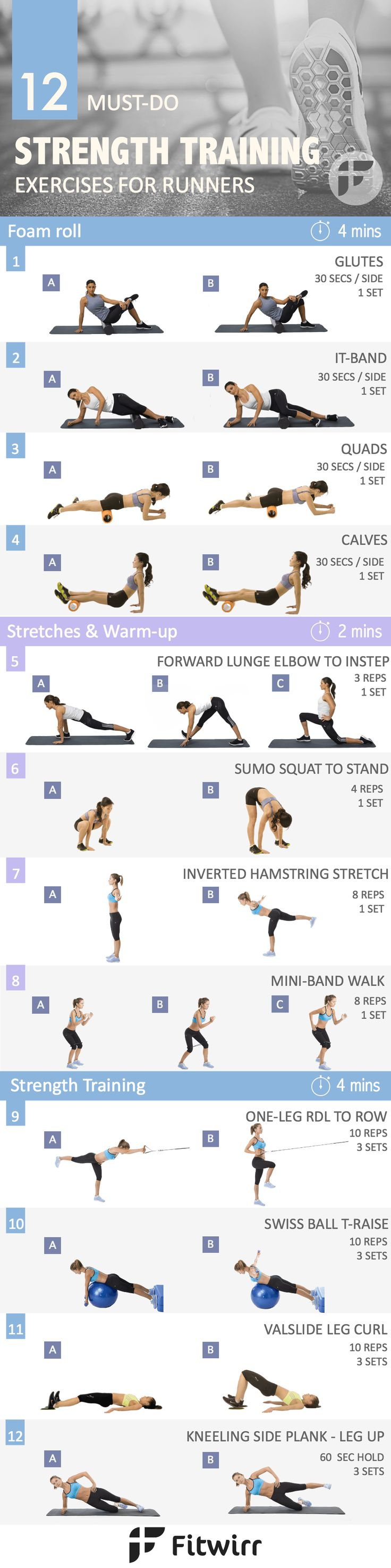 12 Strength Training Exercise Routine for Runners. As a runner you need to build a body that can withstand the impact of running and is less prone to injuries. Develop functional strength with this workout.