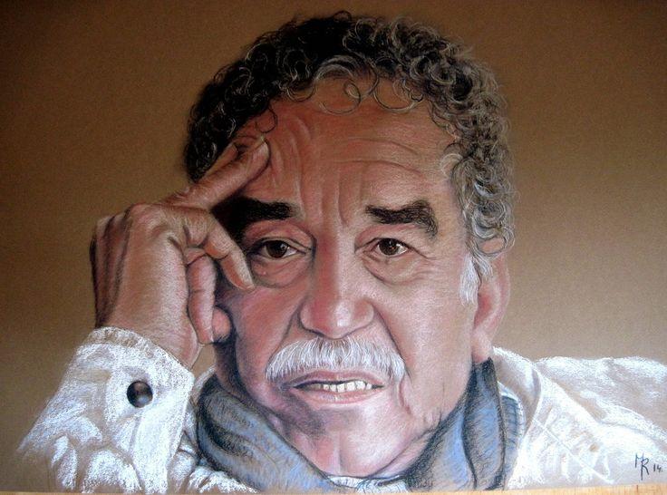 Una idea, mucho arte Gabriel García Márquez Pastel sobre papel Canson . 50 x 65 cm Autora: Maite Rubert