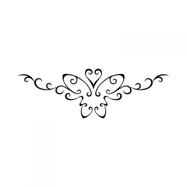 Pochoir papillon love tattoo medium tatouage ph m re - Tatouage a deux ...