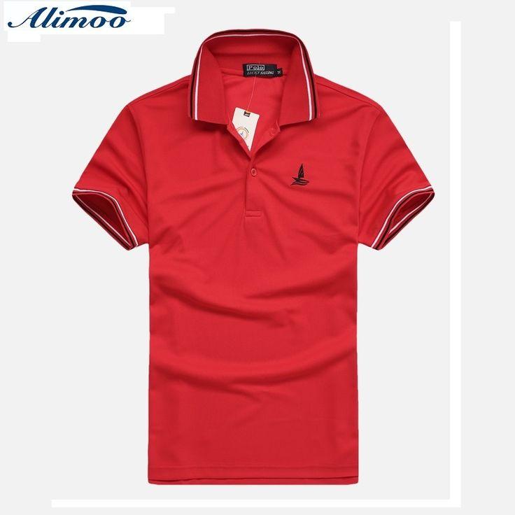 Alimoo Embroidery Men's Polo Shirt Fashion Summer Slim Polo Shirts Shorts Sleeve Leisure Camisa Polo Tees M-2XL CSL02