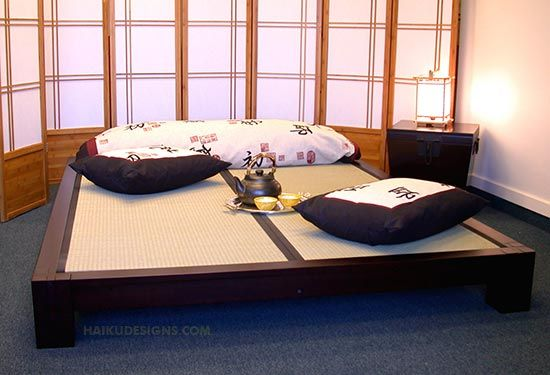 I love this bed! The tatami mat.