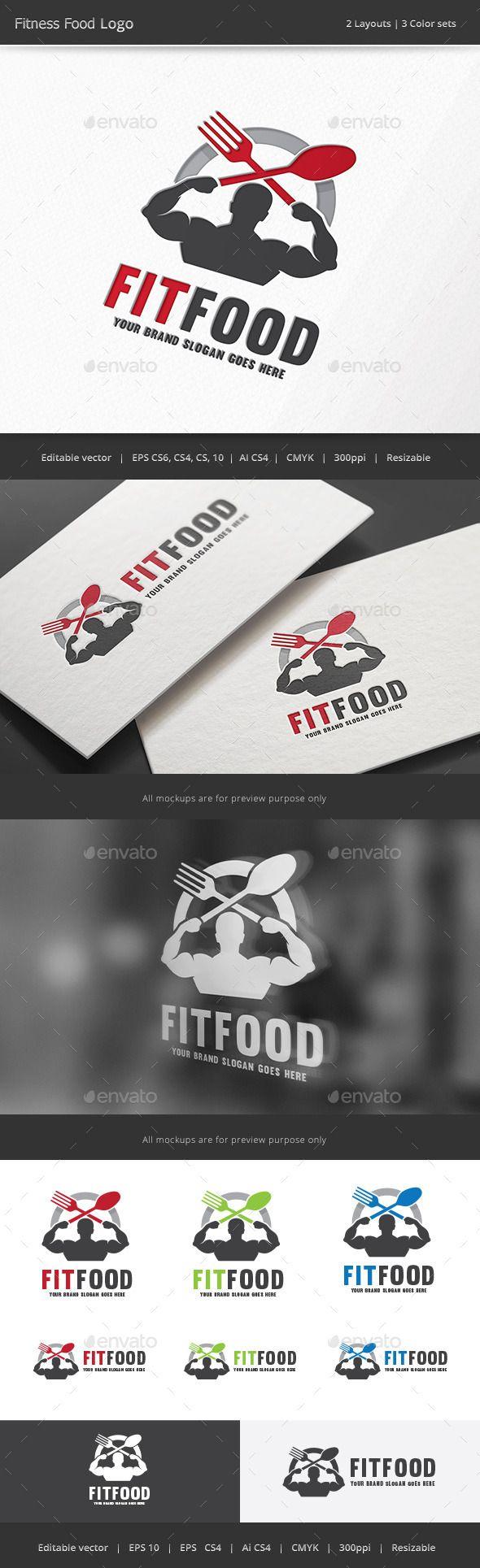 Fitness Food  Logo Design Template Vector #logotype Download it here: http://graphicriver.net/item/fitness-food-logo/12251238?s_rank=610?ref=nesto