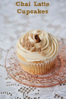 Vegan Gluten-free Chai Latte Cupcakes. I would probably play with the icing a little bit to avoid added sugar but this sounds deliciousssss.