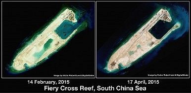 Fiery Cross http://thediplomat.com/2015/04/south-china-sea-chinas-unprecedented-spratlys-building-program/