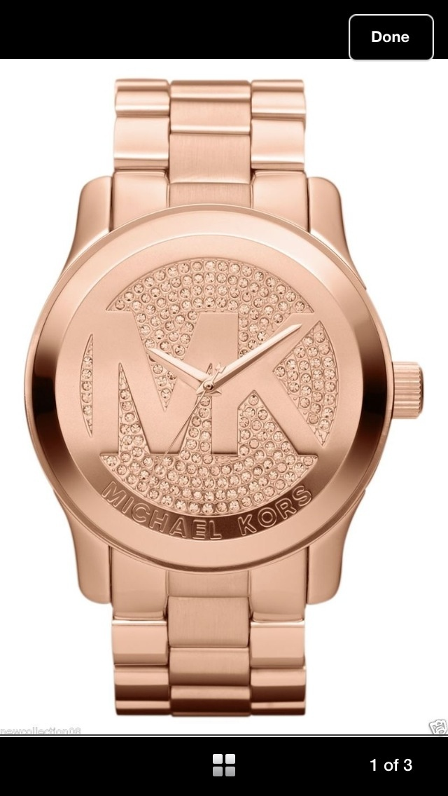 Michael Kors Watch, Women\u0027s Runway Rose Gold-Tone Stainless Steel Bracelet  - Women\u0027s Watches - Jewelry \u0026 Watches - Macy\u0027s - womens big face gold  watches, ...