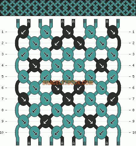 Normal Friendship Bracelet Pattern #10713 - BraceletBook.com