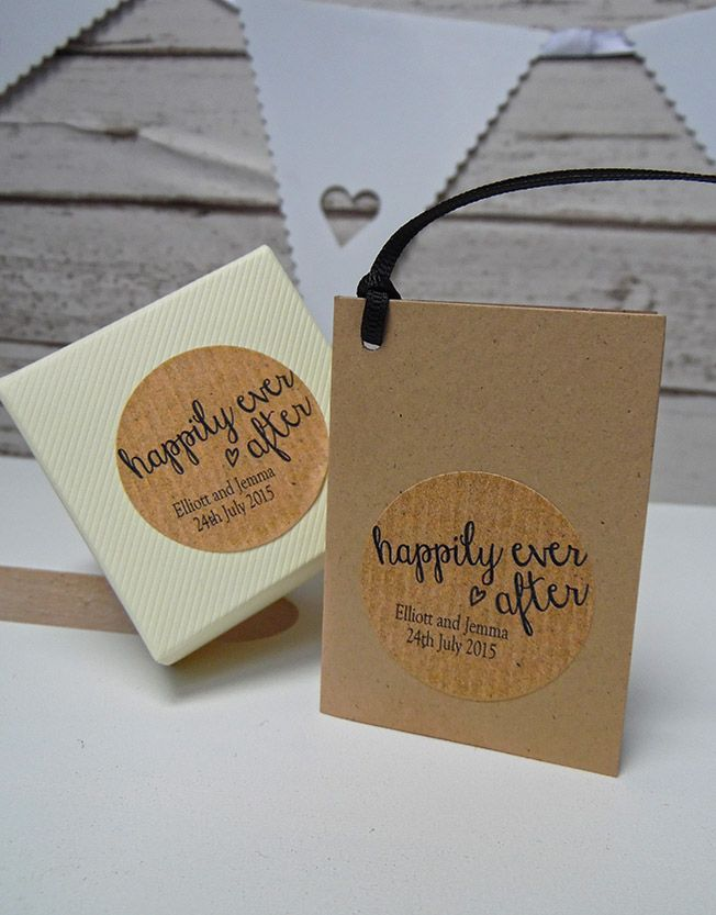 Happily Ever After | Personalised Stickers http://www.designmemygift.co.uk/product/happily-ever-after-stickers-kraft/