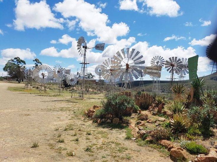 The Loeriesfontein windpump museum, one of only two in the world.