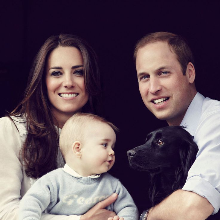 Prince William & Kate Middleton-Family Portrait