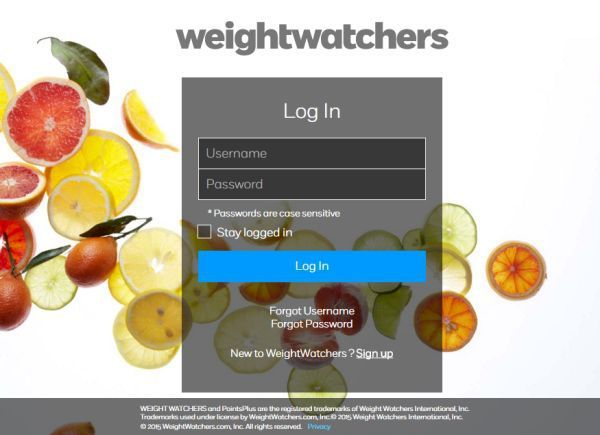 Weight Watchers Login - Reduce and Maintain Body Weight