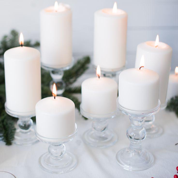 Porta velas de cristal de la tienda de Renata.