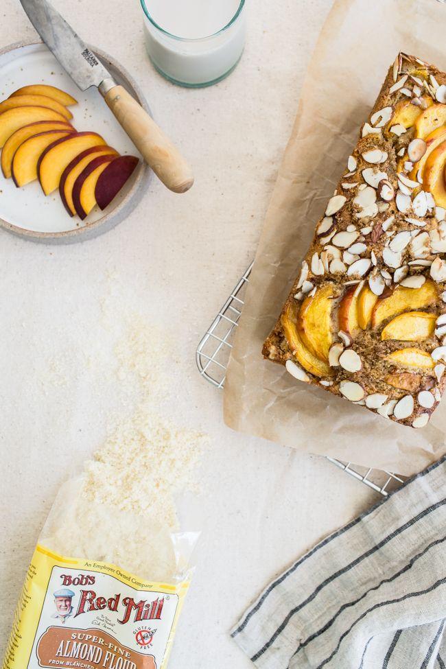 Peach Almond Quick Bread | Edible Perspective