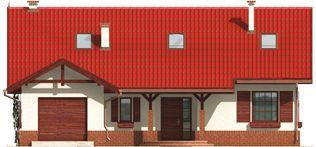 Rózia G1- M1 -201 - Projekt domu Rózia G1 - elewacja frontowa