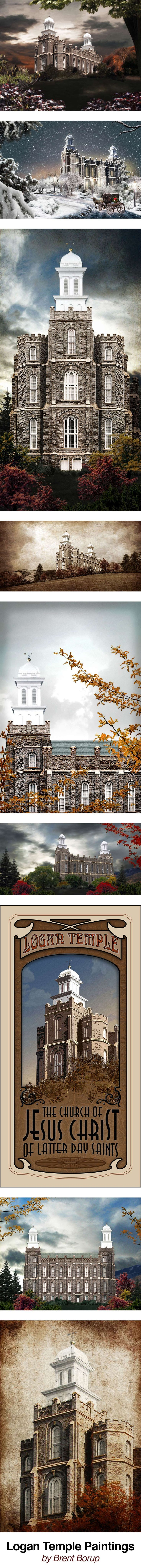 Logan Temple Paintings by Brent Borup.  Love this temple, it's where I married Lorin!