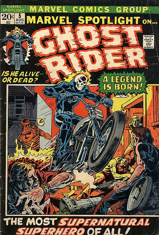 Great Ghost Rider Comic Covers: Marvel Spotlight On Ghost Rider #5 #ghostrider