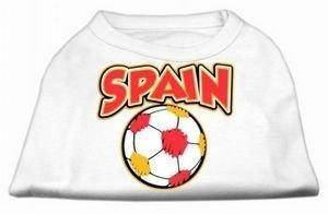 Spain Soccer Print Dog Tank - White