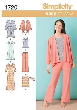 Simplicity Creative Group - Misses' Knit Sleepwear