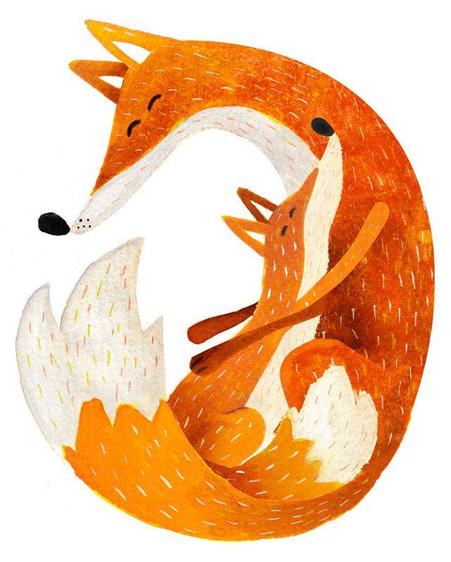 illustration for a children's book - Fox - http://www.carmensaldana.es/?portfolio=488
