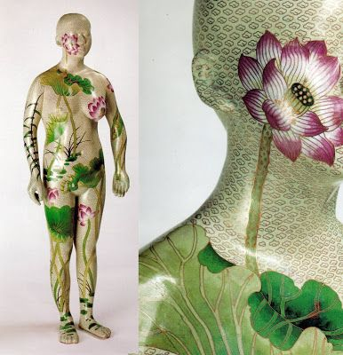 Human, Human - Lotus 1 (2000-1), hand beaten copper with fine cloissoné enamel by Ah Xian (b.1960), Chinese (artinconnu)