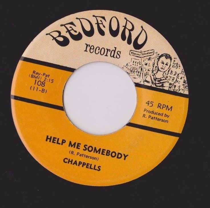 """RARE DETROIT NORTHERN SOUL BY """"CHAPPELLS"""" ON THE """"BEDFORD"""" LABEL# 108 #DETROITNORTHERNSOUL"""