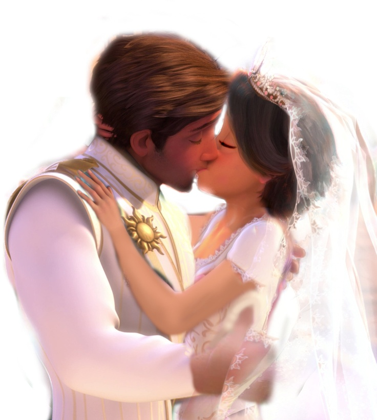 Rapunzel and Flynn's Wedding Kiss | Disney Princess ...